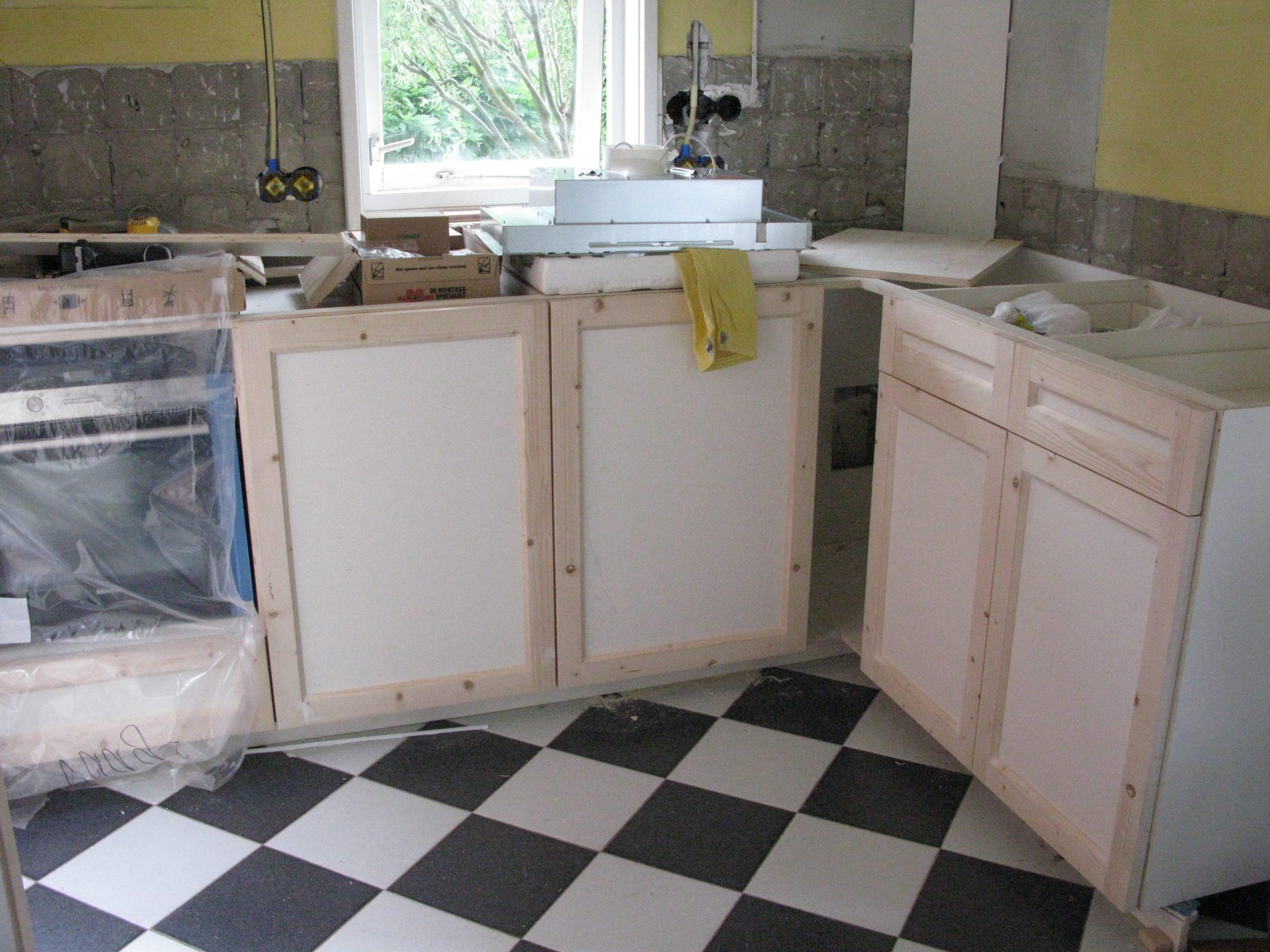 Nieuwe keuken in verbouwde woning